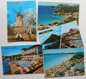 5 vintage Majorca postcards Windmill Hotel Maricel Palma de Mallorca Spain I